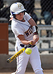 Wildcats' Carlee Beck gets a hit in a college softball game against Snow College at Edmonds Sports Complex in Carson City, Nev., on Friday, March 6, 2014. <br /> Photo by Cathleen Allison/Nevada Photo Source