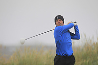 David Ross (Portadown) on the 1st tee during Round 1 - Matchplay of the North of Ireland Championship at Royal Portrush Golf Club, Portrush, Co. Antrim on Wednesday 11th July 2018.<br /> Picture:  Thos Caffrey / Golffile