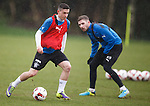 Fraser Aird gets past Kyle Hutton