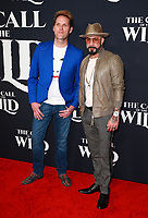HOLLYWOOD, CA - FEBRUARY 13; Mark Adler and AJ McLean at The Call Of The Wild World Premiere on February 13, 2020 at El Capitan Theater in Hollywood, California. Credit: Tony Forte/MediaPunch