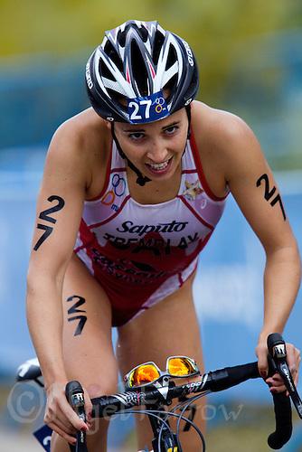 05 JUN 2011 - MADRID, ESP - Kathy Tremblay - Madrid round of the women's ITU World Championship series .(PHOTO (C) NIGEL FARROW)