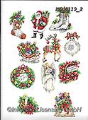 Interlitho-Theresa, CHRISTMAS SYMBOLS, WEIHNACHTEN SYMBOLE, NAVIDAD SÍMBOLOS, paintings+++++,12 window images,KL6119/2,#xx# ,stickers