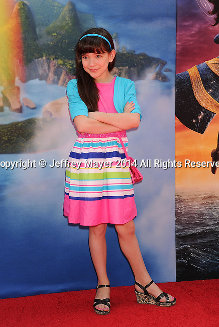 BURBANK, CA- MARCH 22: Actress Chloe Noelle attends the premiere of DisneyToon Studios' 'The Pirate Fairy' at Walt Disney Studios on March 22, 2014 in Burbank, California.