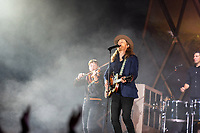 SAN FRANCISCO, CALIFORNIA - AUGUST 09: The Lumineers - Lauren Jacobson, Wesley Schultz performs during the 2019 Outside Lands music festival at Golden Gate Park on August 09, 2019 in San Francisco, California.    <br /> CAP/MPI/ISAB<br /> ©ISAB/MPI/Capital Pictures