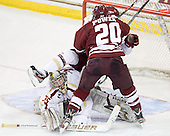 Parker Milner (BC - 35), Paul Carey (BC - 22), Troy Power (UMass - 20) - The Boston College Eagles defeated the University of Massachusetts-Amherst Minutemen 3-2 to take their Hockey East Quarterfinal matchup in two games on Saturday, March 10, 2012, at Kelley Rink in Conte Forum in Chestnut Hill, Massachusetts.