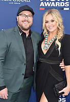 LAS VEGAS, CA - APRIL 07: Mitchell Tenpenny (L) and Meghan Patrick attend the 54th Academy Of Country Music Awards at MGM Grand Hotel &amp; Casino on April 07, 2019 in Las Vegas, Nevada.<br /> CAP/ROT/TM<br /> &copy;TM/ROT/Capital Pictures