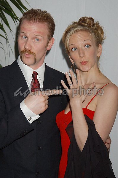 "19 February 2005 - Hollywood, California - Morgan Spurlock of ""Super Size Me"" and Alex Jamieson. 57th Annual Writers Guild Awards held at the Hollywood Palladium. Photo Credit: Laura Farr/AdMedia"