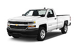 2018 Chevrolet Silverado 1500 1WT Regular Cab Long Box 3 Door Pick-up Angular Front stock photos of front three quarter view