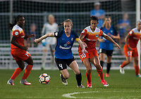 Kansas City, MO - Sunday July 02, 2017:  Becky Sauerbrunn and Carli Lloyd fight for the ball during a regular season National Women's Soccer League (NWSL) match between FC Kansas City and the Houston Dash at Children's Mercy Victory Field.