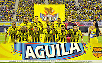 BARRANCABERMEJA -COLOMBIA, 07-11-2015:Formacion del Alianza Petrolera antes de su encuentro contra el  Deportes Tolima por la fecha 19 de la Liga Aguila II 2015 disputado en el estadio Daniel Villa Zapata de la ciudad de Barrancabermeja./ Team of  Alianza Petrolera  against of  Deportes Tolima for the date 19 of the Aguila League II 2015 played at Daniel Villa Zapata stadium in Barrancabermeja city. Photo:VizzorImage / Jose David Martinez / Cont