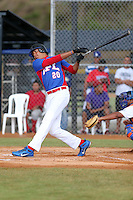 Christian Capellan participates in the International Prospect League Showcase at the New York Yankees academy in Boca Chica, Dominican Republic on January 24, 2014 (Bill Mitchell)