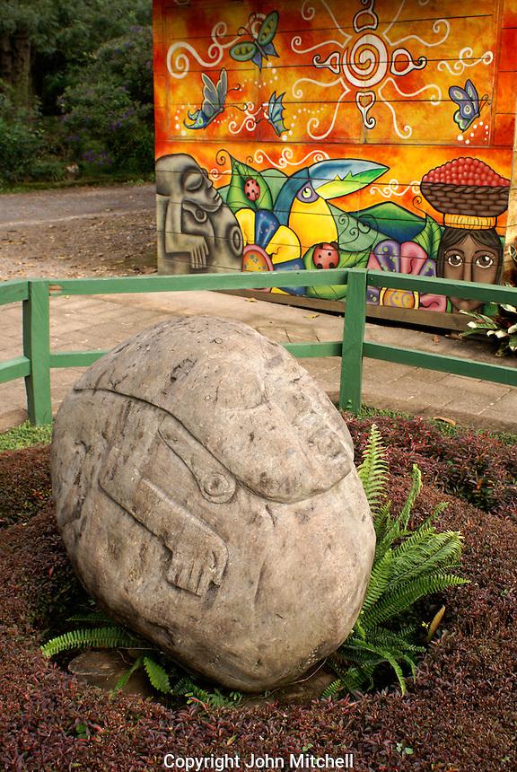 Potbelly style pre-Columbian stone sculpture at Santa Leticia archaeological site, El Salvador