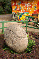 Potbelly style pre-Columbian stone sculpture at Santa Leticia archaeological site, El Salvador