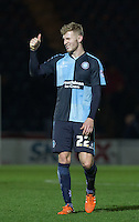 Jason McCarthy of Wycombe Wanderers gives thumbs up during the Sky Bet League 2 match between Wycombe Wanderers and Crawley Town at Adams Park, High Wycombe, England on 28 December 2015. Photo by Andy Rowland / PRiME Media Images