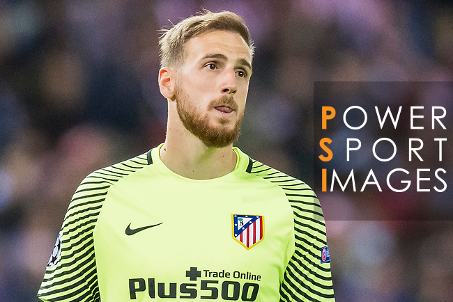 Goalkeeper Jan Oblak of Atletico de Madrid reacts during their 2016-17 UEFA Champions League Semifinals 2nd leg match between Atletico de Madrid and Real Madrid at the Estadio Vicente Calderon on 10 May 2017 in Madrid, Spain. Photo by Diego Gonzalez Souto / Power Sport Images