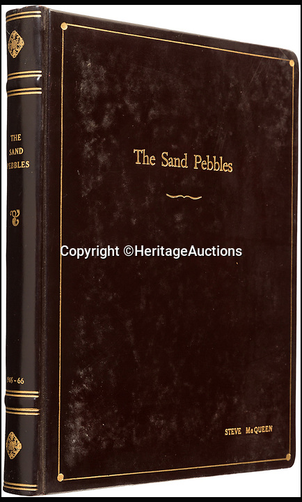 BNPS.co.uk (01202 558833)<br /> Pic: HeritageAuctions/BNPS<br /> <br /> Steve McQueen's The Sand Pebbles script sold for &pound;11,089.<br /> <br /> The script belonging to actor Steve McQueen for The Great Escape which is covered in his suggestions for scenes and his character has sold for ten times its estimate.<br /> <br /> McQueen's personal script for the classic 1963 war film was estimated to fetch &pound;4,000 at auction but sold for a whopping &pound;40,325 ($50,000).<br /> <br /> It was one of 18 McQueen scripts being sold by a collector who knew McQueen at Heritage Auctions in America. The whole collection had an estimate of &pound;50,000 but smashed the expected price, making a total of &pound;203,343 ($252,125).