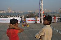 Young cyclist, start of the 2010 Mumbai Cyclothon mass ride for children - Bombay/Mumbai - India