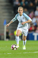 Laura Bassett (Notts County) of England Women during the Women's Friendly match between England Women and Austria Women at stadium:mk, Milton Keynes, England on 10 April 2017. Photo by PRiME Media Images / David Horn.