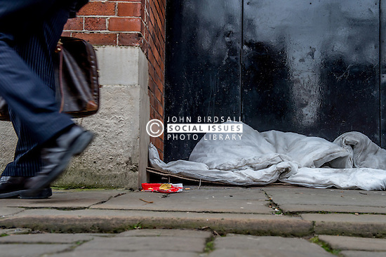 This is part of a personal project 'A box for a bed' looking at the belongings left on the street or the environment people are sleeping in.