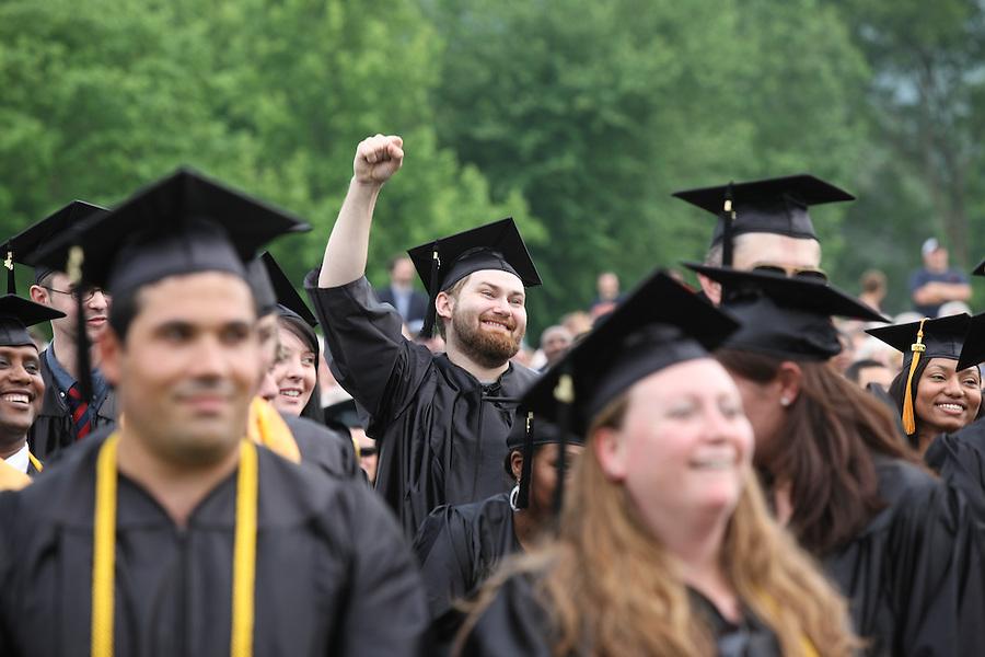 Graduation for Piedmont Community College located in Charlottesville, Va.