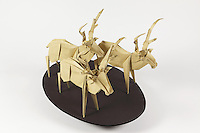 Origami deer designed by Miyashita Yasushi folded by Alfred Kwan.