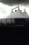 Circus tent exterior.