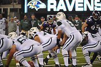 The first Monday Night Football game of the 2010 season pit the Baltimore Ravens against their former Defensive Coordinator and current Head Coach, Rex Ryan and his New York Jets in their first regular season game at their new stadium. For all the build-up prior to the game, it was a clash of the defenses that ended in a 10 -9 Baltimore victory.