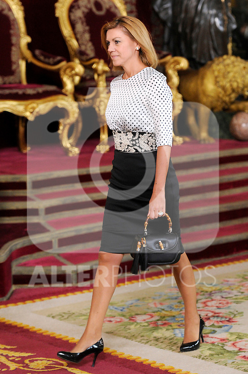 President of Government of Castilla La Mancha Maria Dolores de Cospedal during the Spain's National Day Royal Reception at Royal Palace on October 12, 2014 in Madrid, Spain. October 12 ,2014. (ALTERPHOTOS/Pool)