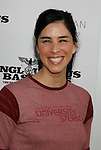 "HOLLYWOOD, CA. - August 10: Sarah Silverman arrives at the Los Angeles premiere of ""Inglorious Basterds"" at the Grauman's Chinese Theatre on August 10, 2009 in Hollywood, California."