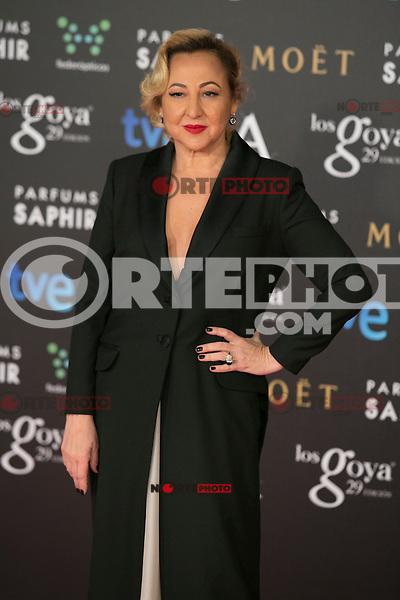 Carmen Machi attend the 2015 Goya Awards at Auditorium Hotel, Madrid,  Spain. February 07, 2015.(ALTERPHOTOS/)Carlos Dafonte) /NORTEphoto.com