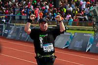 Ciudad de México 28/Agosto/2016.<br /> Se llevó a cabo la XXXIV edición del maratón de la CDMX en un circuito de 42 kilómetros por las avenidas principales de esta capital y el cual culmino en el Estadio Olímpico Universitario.<br /> Cabe destacar que en este certamen en la rama varonil, hicieron el 1-2 por parte de los Haitianos Emmanuel Mnangat Chanmer y Isaack Kemboii Kimaiyo, mientras el tercer lugar se lo llevo Rodgers Ondati Gesabwa.<br /> Mientras en la rama femenil el primer lugar indiscutible se lo adjudico Diana Lobacevske, el segundo Shewarge Amare Alene y el tercer lugar fue para Karina Villazana. /NORTEPHOTO