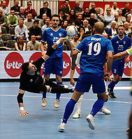 20191010 - HALLE: Save of  Halle-Gooik's GK Redivo  is pictured during the UEFA Futsal Champions League Main Round match between FP Halle-Gooik (BEL) and Kherson (UKR) on1 0th October 2019 at De Bres Sportcomplex, Halle, Belgium. PHOTO SPORTPIX | SEVIL OKTEM