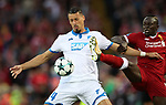 Sadio Mane of Liverpool and Sandro Wagner of Hoffenheim the Champions League playoff round at the Anfield Stadium, Liverpool. Picture date 23rd August 2017. Picture credit should read: Lynne Cameron/Sportimage