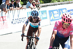 Joe Dombrowski (USA) EF Education First crosses the finish line in 5th place with Tony Gallopin (FRA) AG2R La Mondiale 6th on the final climb Horquette d'Ancizan at the end of Stage 3 of the Route d'Occitanie 2019, running 173km from Arreau to Luchon-Hospice de France, France. 22nd June 2019<br /> Picture: Colin Flockton | Cyclefile<br /> All photos usage must carry mandatory copyright credit (© Cyclefile | Colin Flockton)
