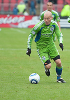 25 April 2010: Seattle Sounders midfielder Freddie Ljungberg #10 in action during a game between the Seattle Sounders and Toronto FC at BMO Field in Toronto..Toronto FC won 2-0....