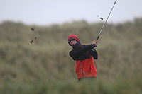 Stephen McDermott (Highfield) on the 13th tee during Round 2 of the Ulster Boys Championship at Portrush Golf Club, Portrush, Co. Antrim on the Valley course on Wednesday 31st Oct 2018.<br /> Picture:  Thos Caffrey / www.golffile.ie<br /> <br /> All photo usage must carry mandatory copyright credit (&copy; Golffile | Thos Caffrey)