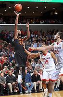 Miami guard Ja'Quan Newton (0) during the game Tuesday, Jan. 12, 2016 in Charlottesville, Va. Virginia defeated Miami 66-58. Photo/Andrew Shurtleff