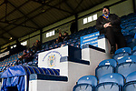 An early arrival in The Danny Bergara Stand. Stockport County v Barnet, 07032020. Edgeley Park, National League. Photo by Paul Thompson.