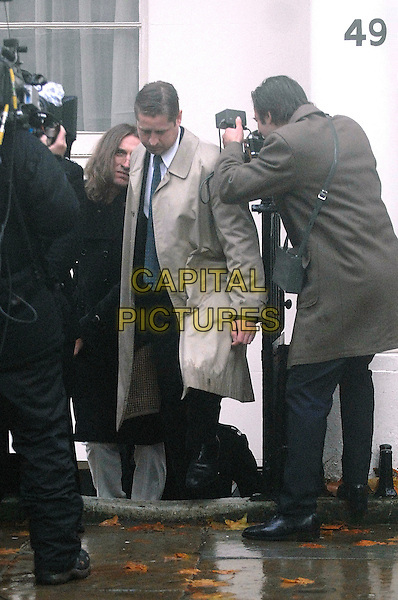 "CHRISTOPHER ECCLESTON.as John Lennon in ""John Lennon - Naked""  BBC4 90 minute drama..John Lennon and Yoko Ono are arrested. First day of filming in Gordon Square, North London, England..CAP/IA.©Ian Allis/Capital Pictures."