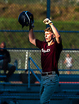 NAUGATUCK , CT-072920JS09—Naugatuck's Nick Bruno celebrates after blasting a solo home run during their CT Elite Baseball Association's game against Bethel Wednesday at Naugatuck High School. <br />  Jim Shannon Republican-American