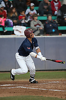 Jimmy Hill (4) of the Loyola Marymount Lions bats against the Washington State Cougars at Page Stadium on February 26, 2017 in Los Angeles, California. Loyola defeated Washington State, 7-4. (Larry Goren/Four Seam Images)