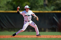 Dartmouth Big Green second baseman Sean Sullivan (4) during a game against the Villanova Wildcats on March 3, 2018 at North Charlotte Regional Park in Port Charlotte, Florida.  Dartmouth defeated Villanova 12-7.  (Mike Janes/Four Seam Images)