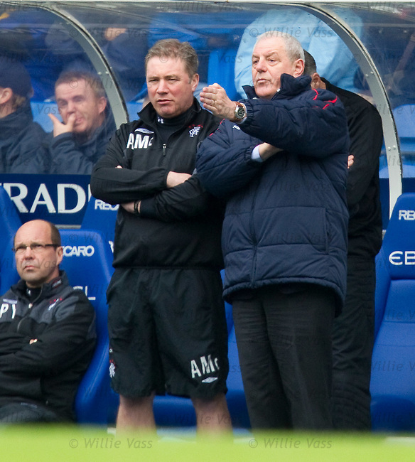 Walter Smith gives some direction to Ally McCoist