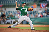 Daytona Tortugas starting pitcher Jonathon Crawford (23) delivers a pitch during a game against the Florida Fire Frogs on April 6, 2017 at Osceola County Stadium in Kissimmee, Florida.  Daytona defeated Florida 3-1.  (Mike Janes/Four Seam Images)