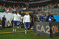 Photo before the match Estados Unidos vs Argentina at NRG Stadium, in Houston, Texas corresponding to the Semifinals of Copa America Centenario 2016. ---<br /> <br /> Foto previa al partido Estados Unidos vs Argentina ,en el Estadio NRG, en Houston, Texas. Partido Correspondiante a la semifinal de la Copa America Centenario USA 2016, en la foto:(i-d)Ever Banega y Lionel Messi de Argentina<br /> <br /> --- - 21/06/2016/MEXSPORT/JAVIER RAMIREZ