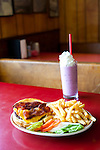 The Huff-n-Puff drive in diner in Randle, Washington on Highway 12 serves burgers and milkshakes.