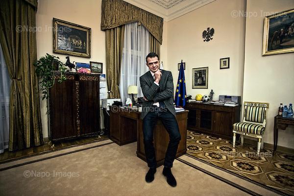 Warsaw 27.01.2011 Poland<br /> Head of the Presidential Chancellery, Minister Slawomir Nowak.<br /> Photo: Adam Lach / Newsweek Polska / Napo Images<br /> <br /> Szef Kancelarii Prezydenta RP, minister Slawomir Nowak.Fot: Adam Lach / Newsweek Polska / Napo Images<br /> <br /> !!!!UWAGA RESTRYKCJE!!!!!.Zdjecie moze byc uzyte w prasie gdy sposob jego wykorzystania oraz podpis nie obrazaja osob znajdujacych sie na fotografii!!!