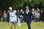 Luke Donald (ENG) and caddy John McClarren walk onto the 1st green during the Final Day of the BMW PGA Championship Championship at, Wentworth Club, Surrey, England, 29th May 2011. (Photo Eoin Clarke/Golffile 2011)