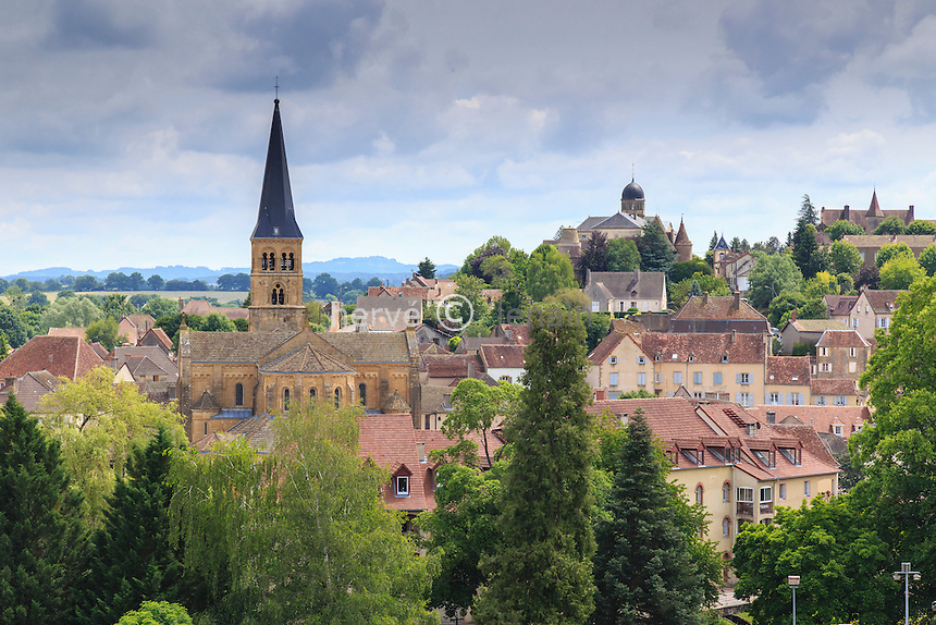 France,  Saône-et-Loire (71), Charolais, Charolles, église du Sacré-Coeur // France, Saone et Loire, Charolles