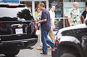 United States President Barack Obama walks to his motorcade after greeting well wishers outside of Island Snow on January 3, 2013 in Kailua, Hawaii.  .Credit: Kent Nishimura / Pool via CNP